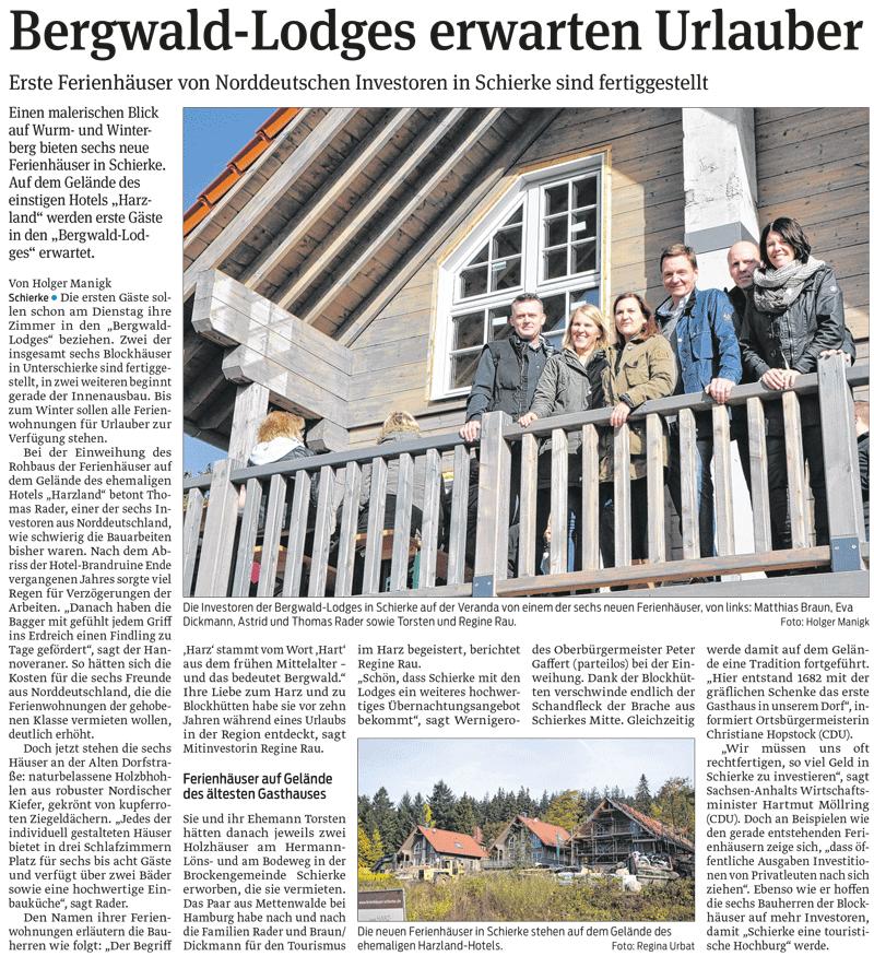 Bergwald-Lodges erwarten Urlauber