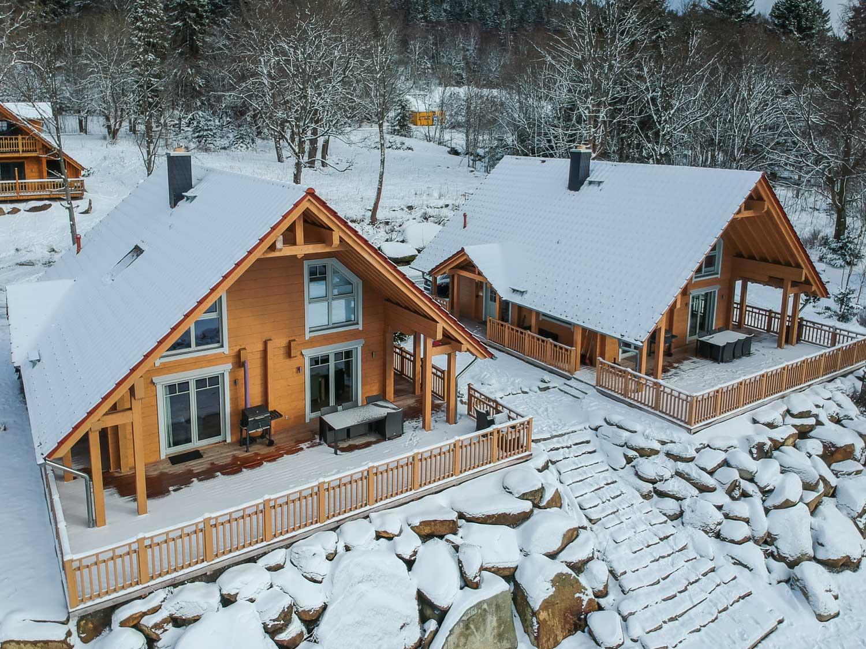 Schierke Bergwaldlodges im Schnee
